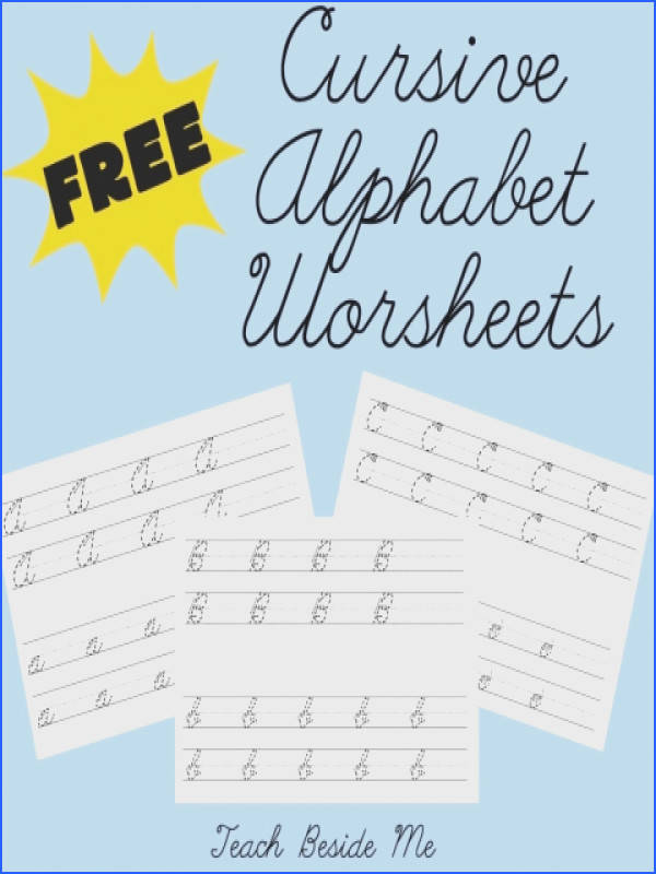 FREE Cursive Alphabet Worksheets