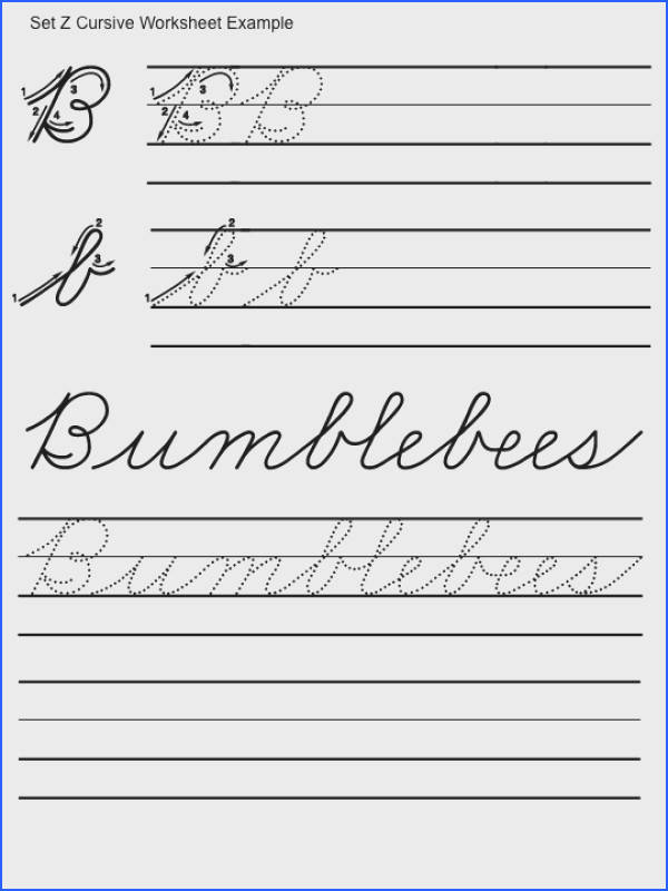 Free Cursive Handwriting Samples Worksheets for all Download and Worksheets