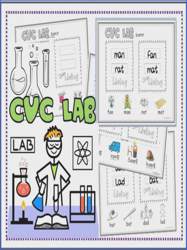 FREE CVC Words Living and Non Living objects Science