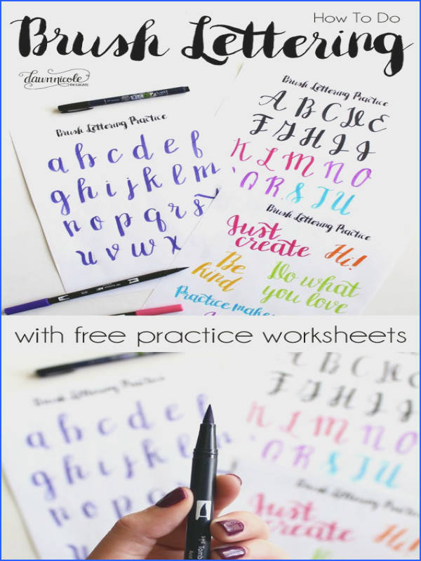 Learn How to Brush Letter by Dawn Nicole