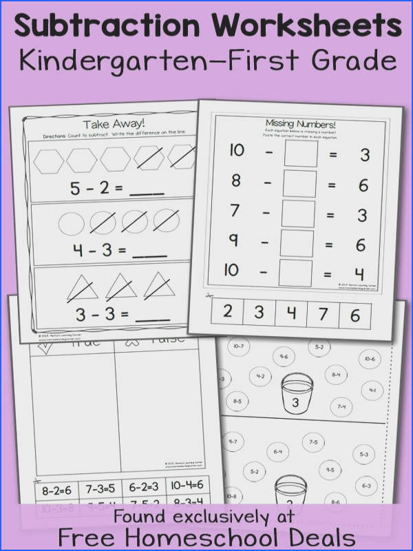 FREE K 1 SUBTRACTION WORKSHEETS instant