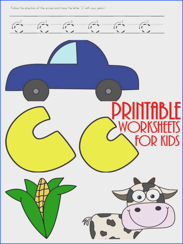 FREE LETTER C WORKSHEETS Instant Download