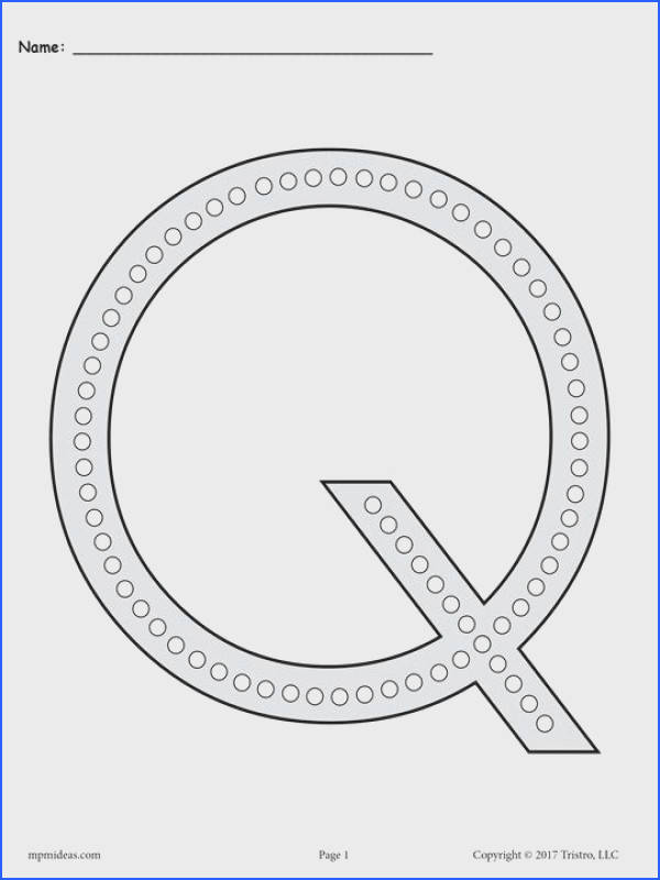 FREE Letter Q Q Tip Painting Printables Includes Uppercase and Lowercase Letter Q Worksheets