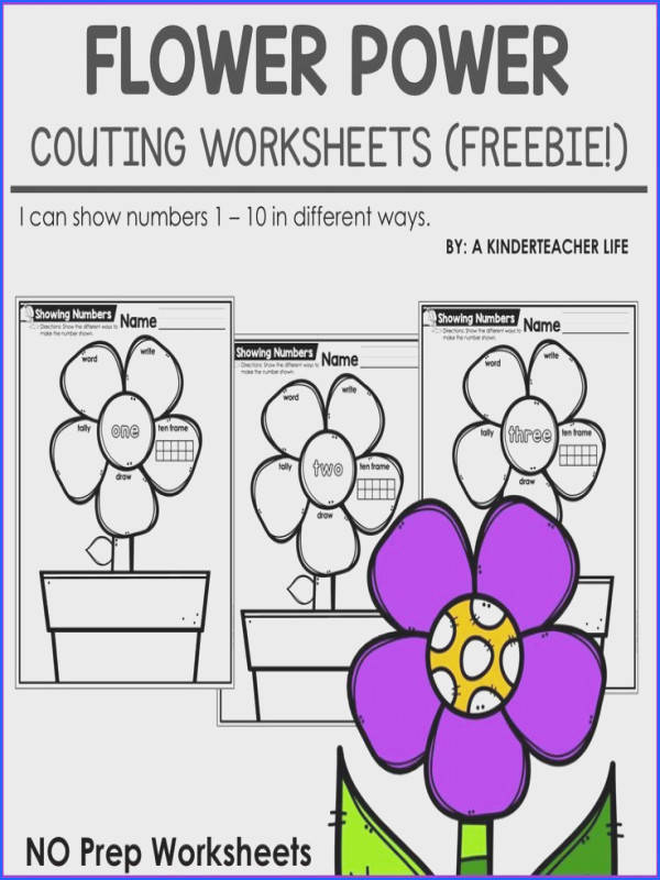 FREE math counting worksheets students show the different ways to represent a number using a