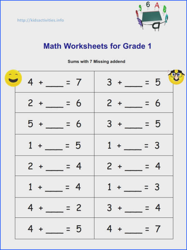 math subtraction worksheets 1st grade free printable for first students sheets mental to a part of
