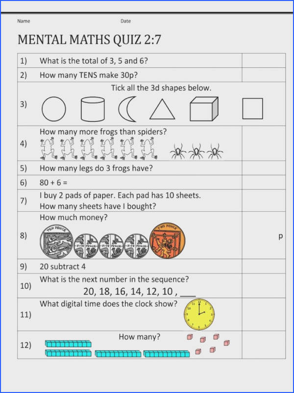 Year Seven Maths Worksheets Descargardropbox Math Mental Free Sheets 6 Grade For Olds Uk Yr 720