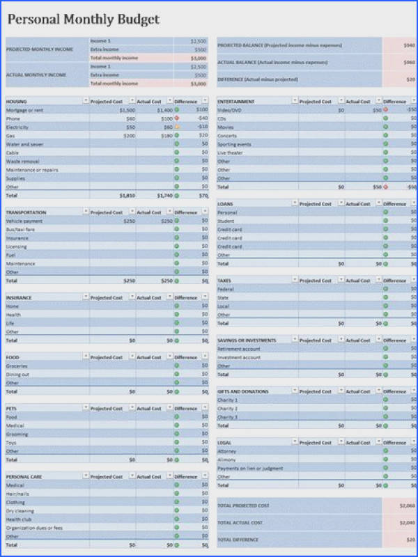 Free Microsoft Excel Bud Templates for Business and Personal Use