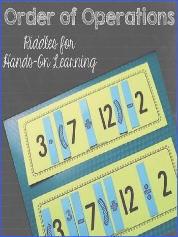 FREE Order of Operations Riddles for Hands Learning these are pretty