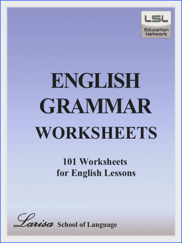 Free PDF English grammar worksheets contains 101 worksheets The alphabet numbers tenses