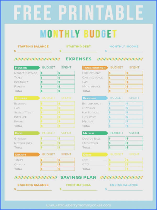 FREE Printable Bud Sheet