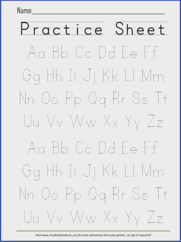 Free Printable Handwriting ABC Worksheet now that Evie can identify all the letters we re working on writing all of them