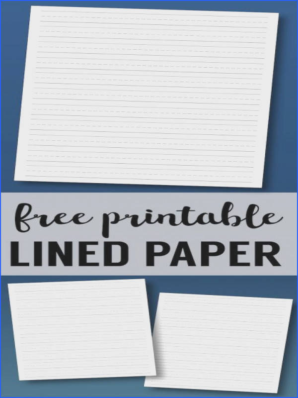 Free Printable Lined Paper Handwriting Paper Template