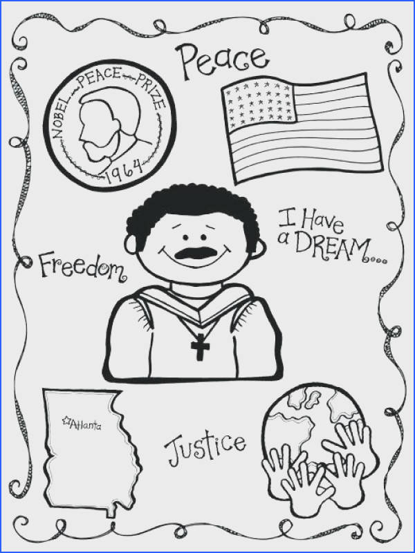 Martin Luther King Jr Coloring Pages Free