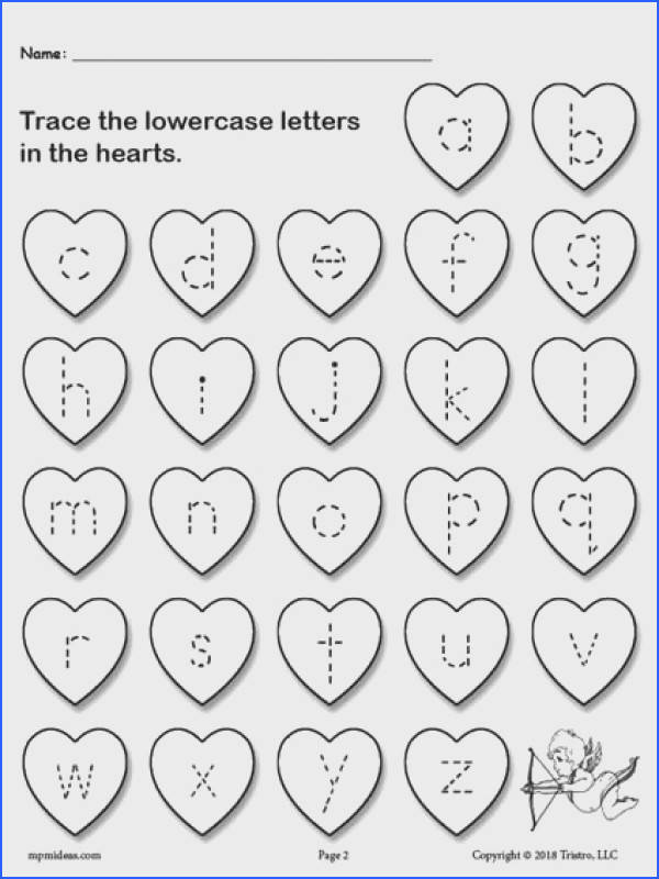 FREE Printable Valentine s Day Uppercase and Lowercase Alphabet Letter Tracing Worksheets