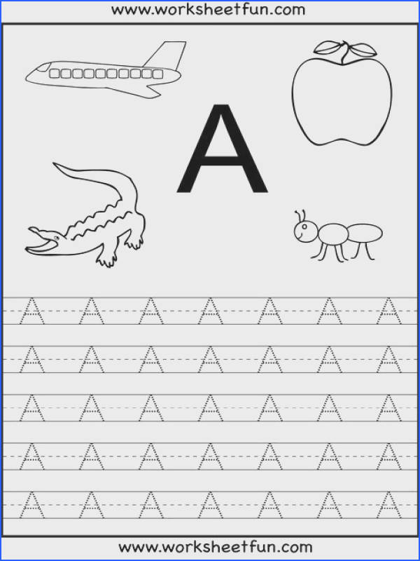Free Printable Worksheets Letter Tracing Worksheets For Kindergarten Capital and Small Letters Alphabet