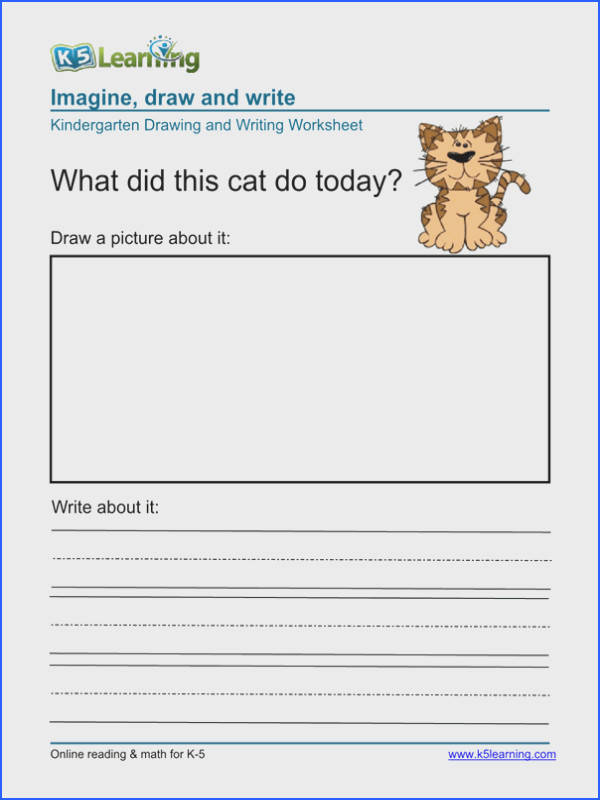 Free Printable Writing Worksheets For Kindergarten Worksheets for all Download and Worksheets