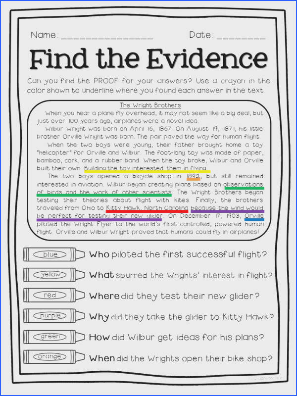 FREE sampler of Super Text Detectives Find the Text Evidence I love these for