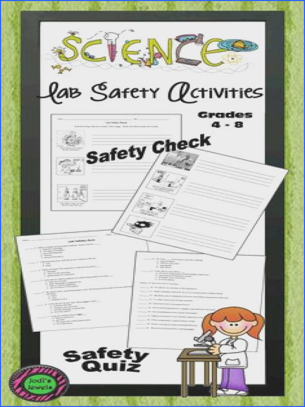 cool Middle school science lab safety check and quiz Use humor to check science lab