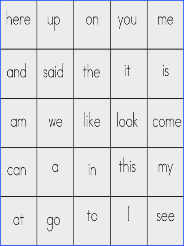 Free sight word bingo cards first 100 broken in sets of Very adaptable