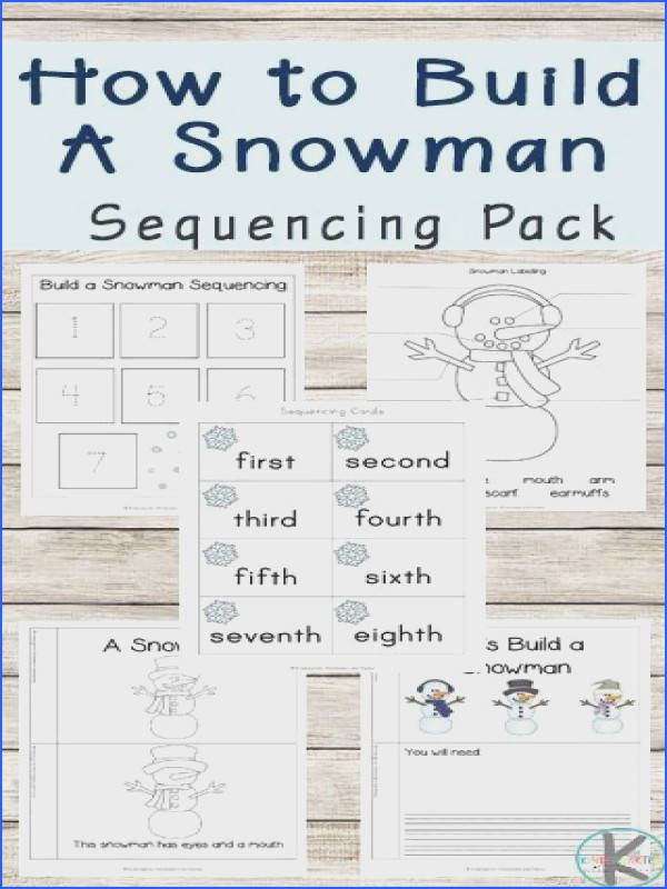 FREE Snowman Sequencing Worksheets are a fun way for preschool kindergarten first grade and 2nd practice sequencing Includes sequencing activit…