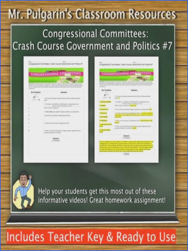 Congressional mittees Crash Course Government and Politics 7