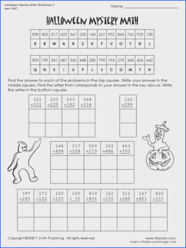 Ultimate Fun Math Worksheets For 4th And 5th Graders Also Halloween Worksheets 4th Grade Free