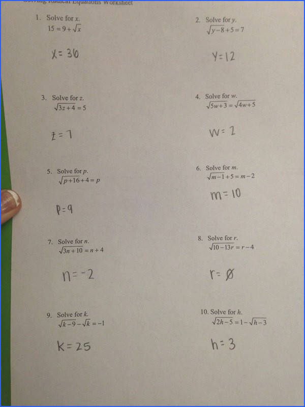 "FUNSTATS on Twitter ""Math 154B solving radical equations worksheet"