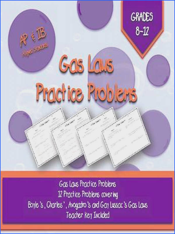 Gas Laws Worksheets and Key for Boyle s Charles Gay Lussac s and