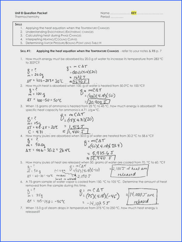Stoichiometry Worksheet 2 Rcnschool