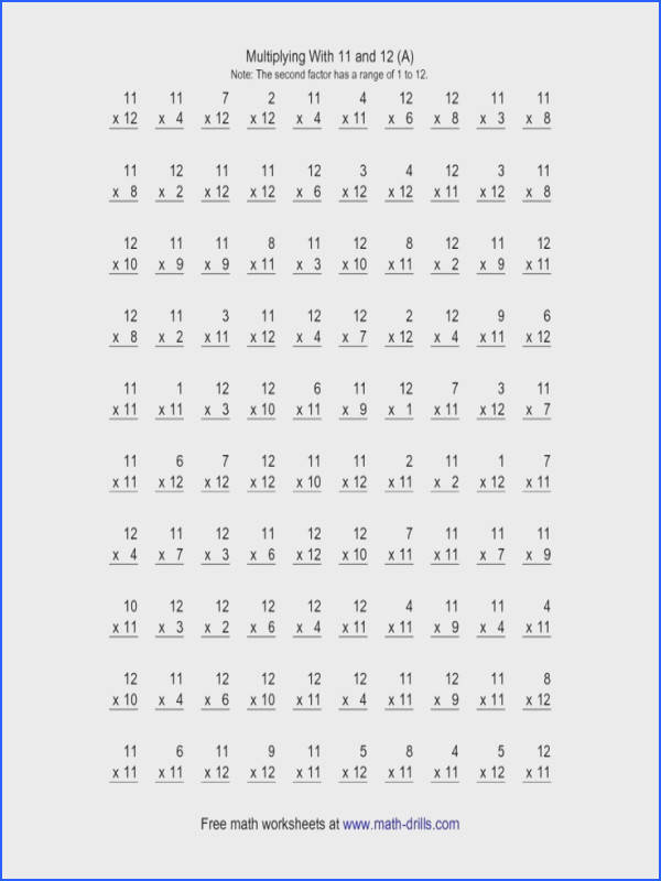 Stunning Mad Minute Multiplication Worksheets Contemporary