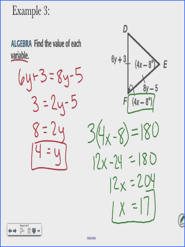 Geometry 4 6 Isosceles and Equilateral Triangles