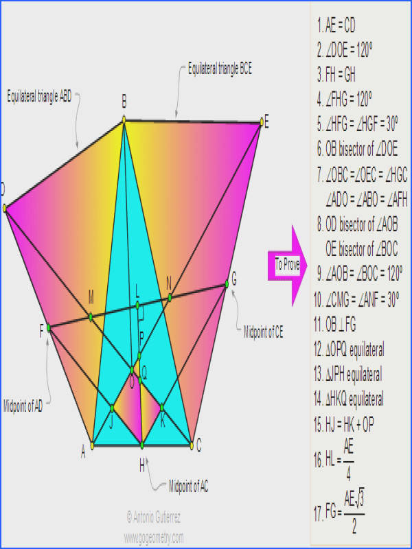 line Geometry Problem 50 Triangle with equilateral triangles Angles 60 degrees