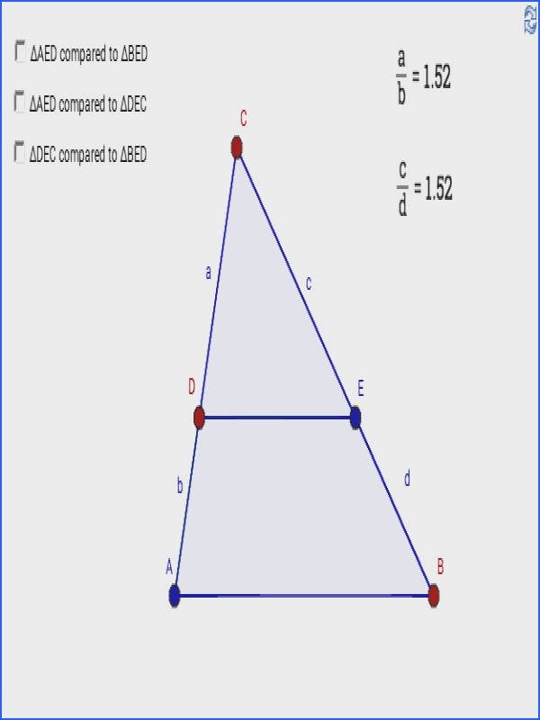 Geometry similar triangles