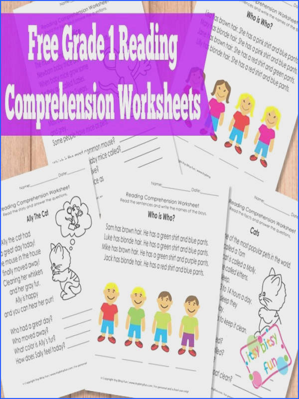 Grade 1 Reading prehension Worksheets I just ed the Kindergarten pack