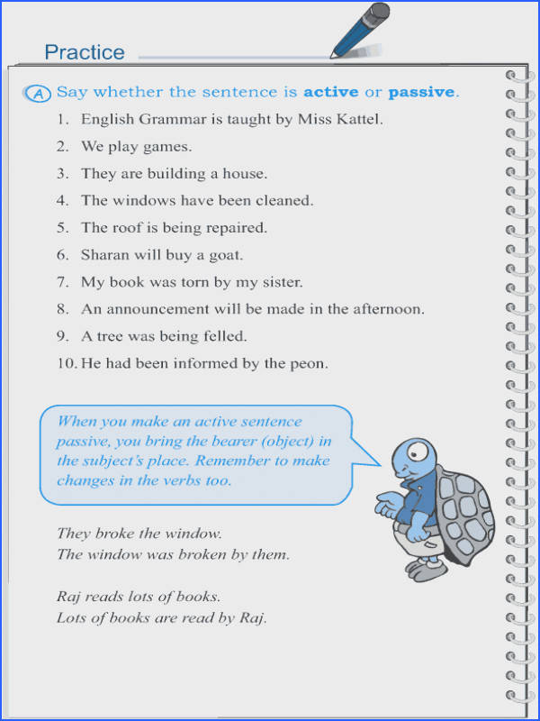 Grade 5 Grammar Lesson 12 Voice active and passive 3