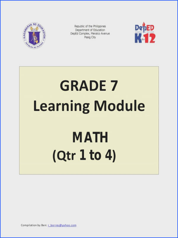 grade 7 learning module in math 1 638