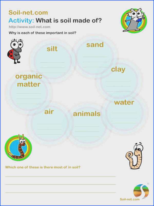 Great worksheet for grade or grade when discussing soil and what it is…