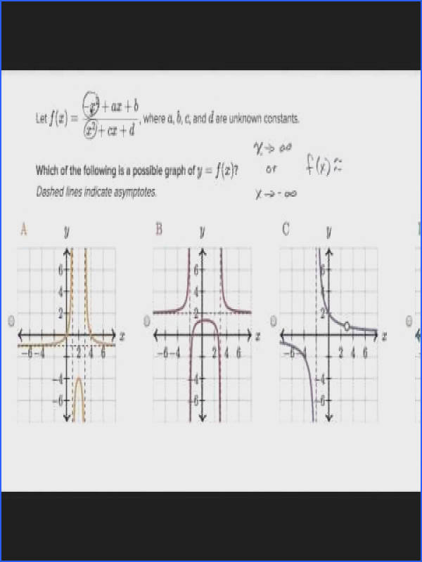 Graphs of rational functions horizontal asymptote video
