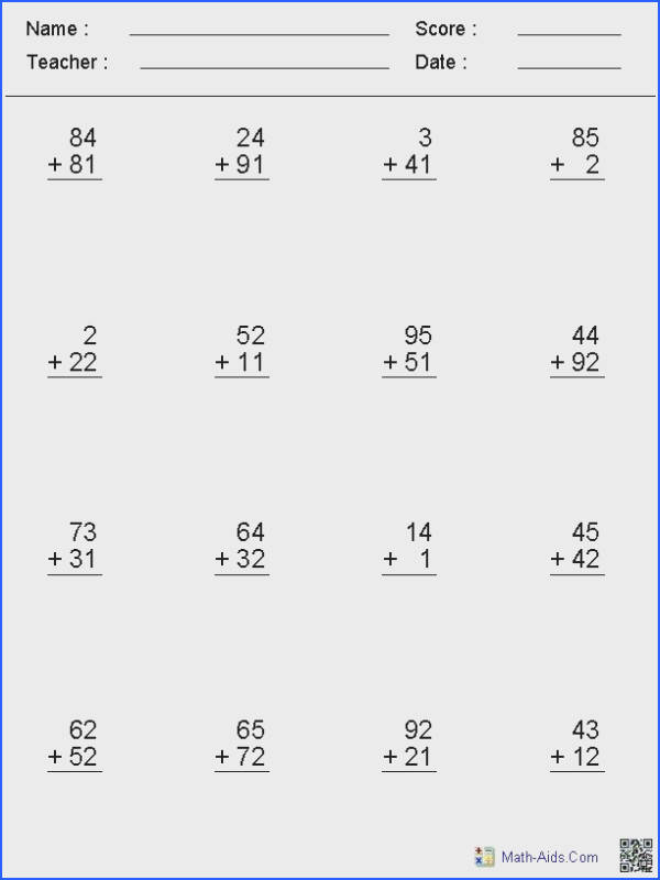 Homeschool Math Worksheet Generator