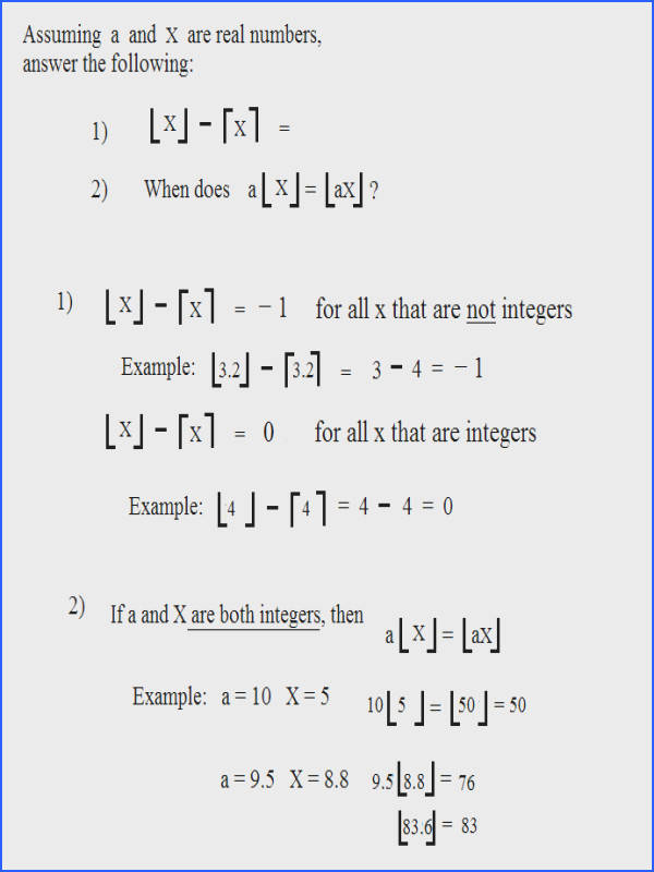 Domain and Range Interval Notation Worksheet with Answers