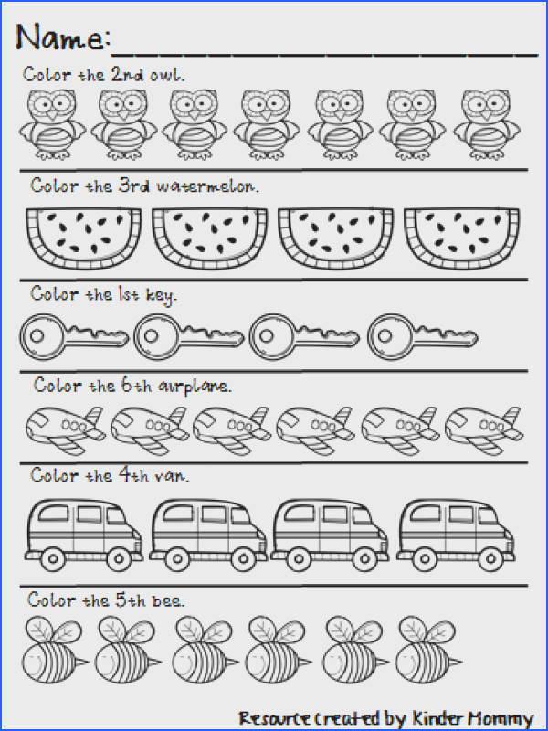 Math worksheets · GREAT ordinal number printables