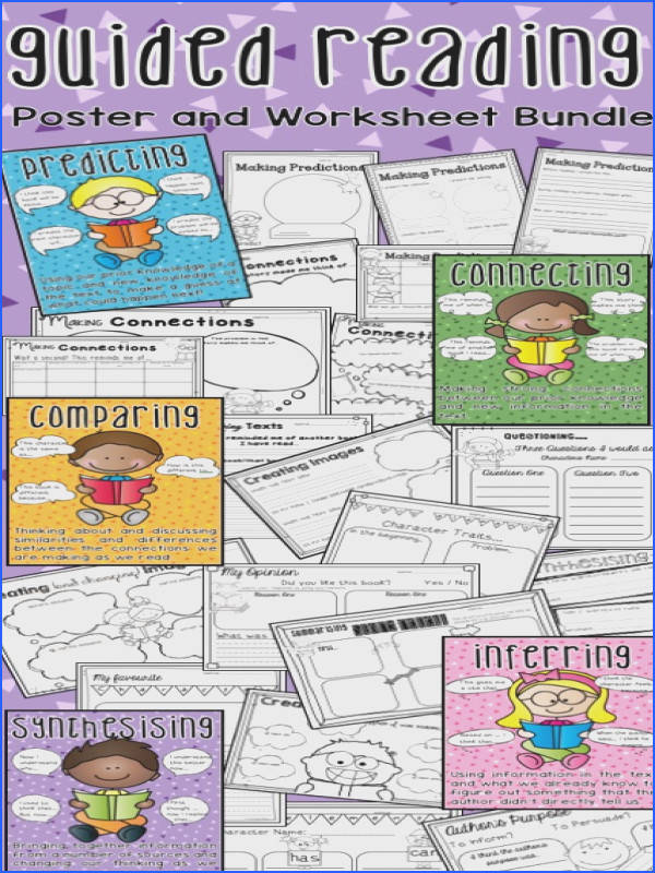 Guided Reading Posters and prehension Worksheets
