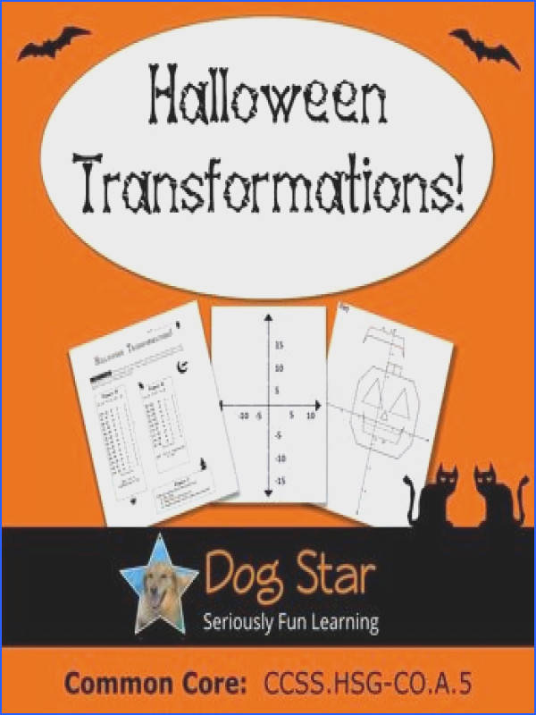 Halloween Math Activity for High School Geometry Students graph three different figures then use the