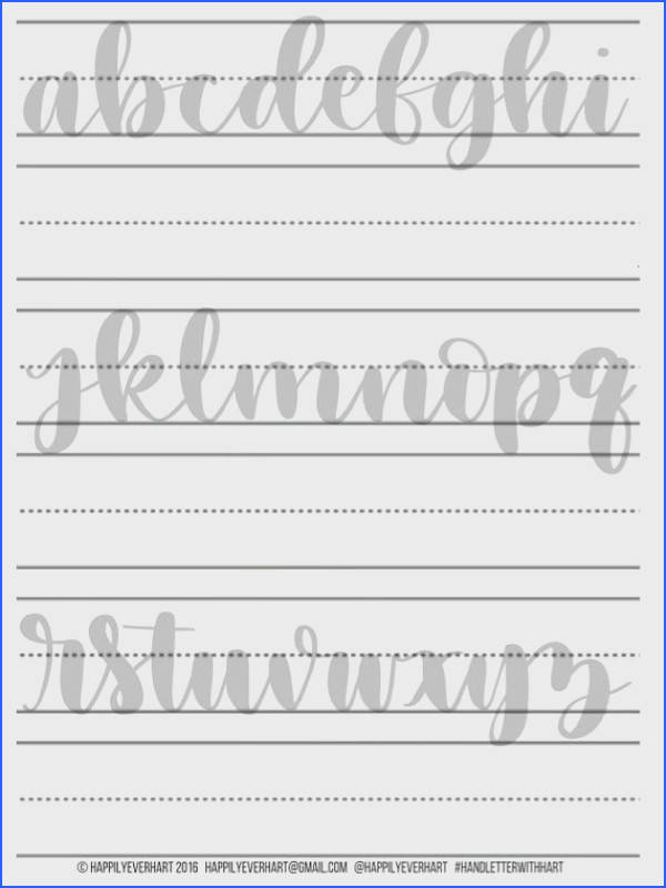 Hand Lettering Practice Worksheets Letter Formation Using Basic Strokes to Form Letters Calligraphy & Brush Lettering