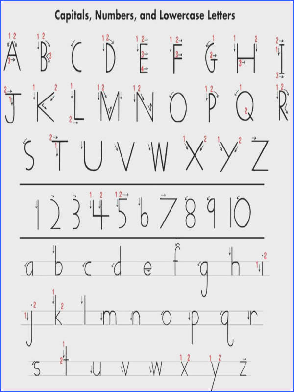 Handwriting Without Tears Printables