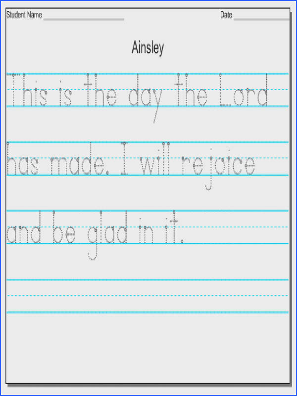 Handwriting Worksheets Print Worksheets for all Download and Worksheets