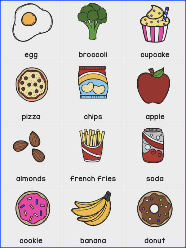 This pack includes worksheets posters and activities for teaching healthy foods in preschool or kindergarten The colorful posters will grab your