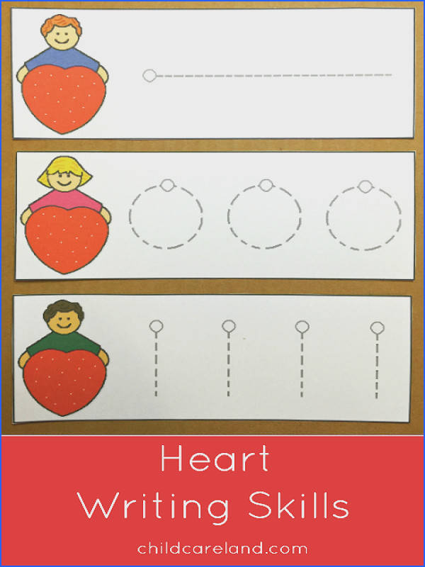 Heart Writing Skills Cards great for fine motor and pre writing skills