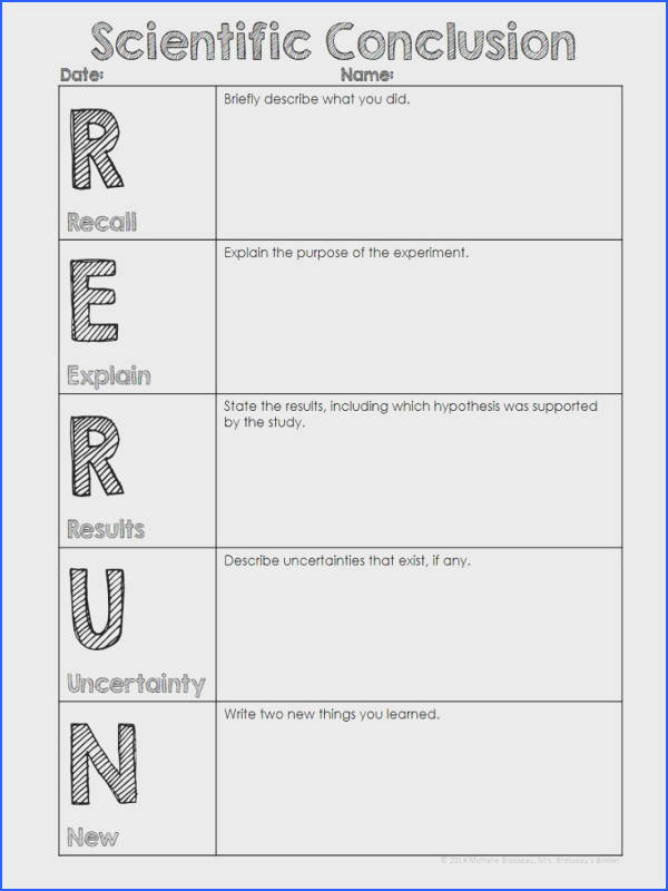 Here is a quick easy and FREE resource for writing conclusions for scientific inquiry experiments