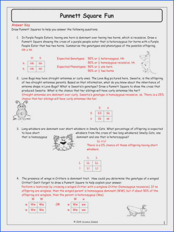 Heredity Biology Worksheets High School Heredity Best Free Printable Worksheets